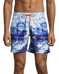 Bugatchi - Printed Drawstring Shorts - Lyst
