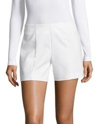 Saks Fifth Avenue Black Solid Powerstretch Shorts - White