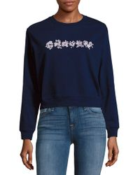 Carven - Printed Cotton Sweatshirt - Lyst