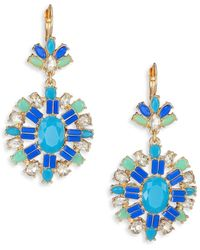 ABS By Allen Schwartz - Jeweled Pendant Drop Earrings - Lyst