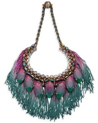Tataborello - Beaded Fringed Necklace - Lyst