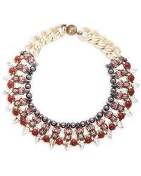 Tataborello Swarovski Crystal Studded Necklace