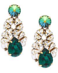 Tataborello - Swarovski Crystal & Glass Beads Drop Earrings - Lyst