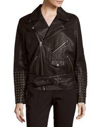 McQ Leather Long-sleeve Jacket - Black