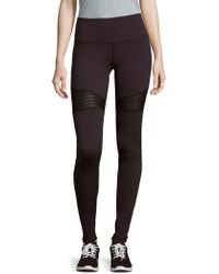 Just Live - The Moto Ribbed Leggings - Lyst