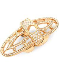 CC SKYE - Rennaissance Crystal Gold Ring - Lyst