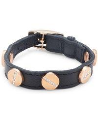 CC SKYE - Crystal Studded Leather Bracelet - Lyst
