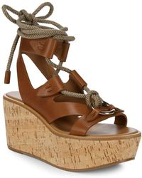 Frye Dahlia Rope Wedge - Brown