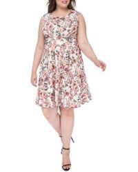 Bobeau - Skye Knit Fit & Flare Dress - Lyst