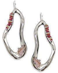 Alexis Bittar Women's Silverplated Crystal & Doublet Drop Earrings - Metallic