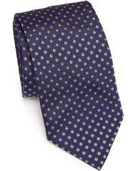 Eton of Sweden - Floral Printed Silk Tie - Lyst