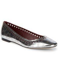 Diane von Furstenberg - Corolla Metallic Leather Flats - Lyst