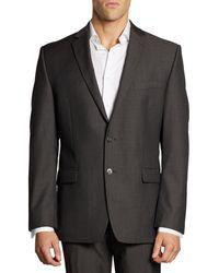 Calvin Klein Mini Herringbone Wool Suit Jacket - Black