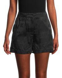 Kirin Jacquard Monogram Shorts - Black