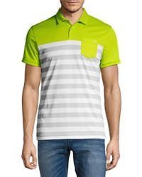 J.Lindeberg - Stripe Short-sleeve Polo - Lyst