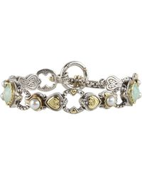 Konstantino - Amphitrite 8-9mm White Pearl, Blue Agate And Sterling Silver Bracelet - Lyst
