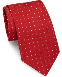 Brioni - Dots Pattern Silk Tie - Lyst