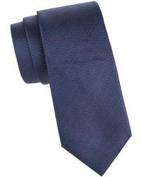 Corneliani Textured Silk Tie - Blue