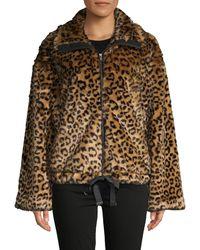 Rebecca Minkoff Bridit Leopard-print Faux Fur Jacket - Brown