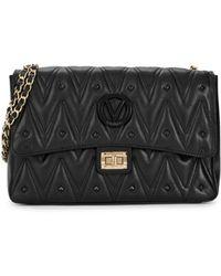 Valentino By Mario Valentino Women's Posh Studded Leather Flap Bag - Black
