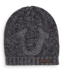 True Religion - Horseshoe Knit Hat - Lyst
