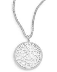Ron Hami - Silver Lining White Topaz & Sterling Silver Pendant Necklace - Lyst