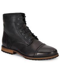 Marc New York - Citizen Leather Cap-toe Boots - Lyst