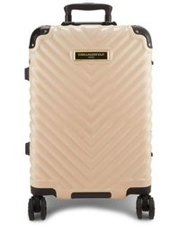 Karl Lagerfeld Georgette 22-inch Chevron Hard Shell Luggage - Blush - Multicolor
