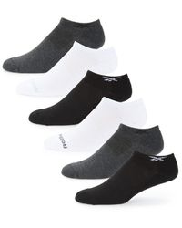 Reebok 6-pack Low-cut Socks - Black