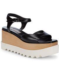 9383cc09dbe Chloé Kingsley Platform Leather Sandals in Black - Lyst