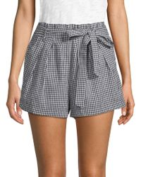 For Love & Lemons - Gingham Cotton Shorts - Lyst