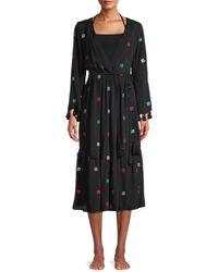 Tessora Sequin-embellished Coverup Dress - Black