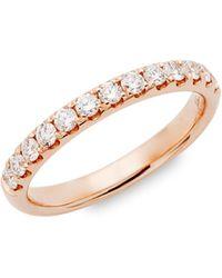 Saks Fifth Avenue 14k Rose Gold Diamond Band Ring - Metallic