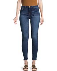 True Religion Halle Big T Flap-pocket Super Skinny Jeans - Blue