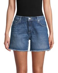 Joe's Jeans Frayed Cuff Denim Shorts - Blue