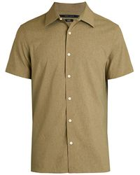 Perry Ellis Slim-fit Short-sleeve Shirt - Green