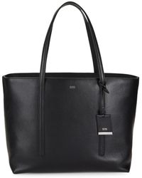 BOSS by Hugo Boss Women's Taylor Leather Tote - Black
