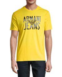 Armani Jeans Logo Graphic T-shirt - Yellow
