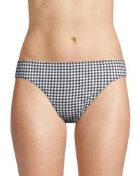 Tommy Bahama Gingham Reversible Bikini Bottom - Black