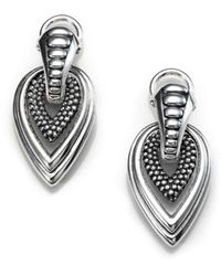 Lagos Sterling Silver Teardrop Earrings - Metallic