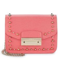 Furla - Julia Mini Studded Leather Crossbody Bag - Lyst