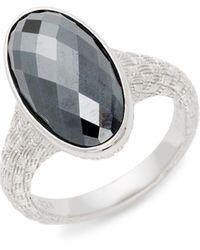 Effy Sterling Silver & Hematite Ring - Metallic