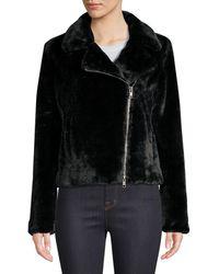 Rebecca Minkoff Henderson Faux Fur Jacket - Black