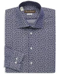 Hickey Freeman - Floral Cotton Dress Shirt - Lyst