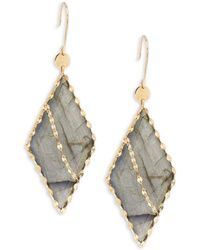 Lana Jewelry - Lumos Edge 14k Yellow Gold Drop Earrings - Lyst