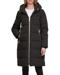 DKNY Down-filled Long Puffer Coat - Black