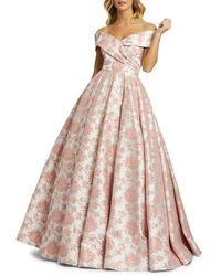Mac Duggal Women's Floral Embroidered Ball Gown - Rose - Size 2 - Pink