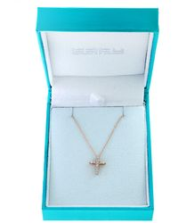 Effy Super Buy 15k Rose Gold And Diamonds Cross Pendant Necklace - Multicolor
