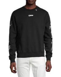 Off-White c/o Virgil Abloh Caravaggio Square Sweatshirt - Black