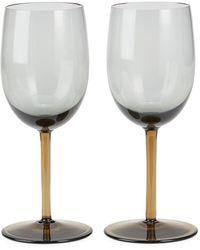 Bottega Veneta Murano 2-piece Wine Glass Set - Grey
